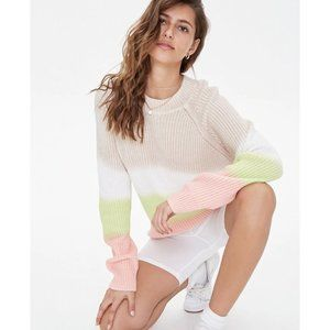 [Forever 21] NWT Ribbed Colorblock Sweater